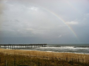 Rainbow over the Avon Pier